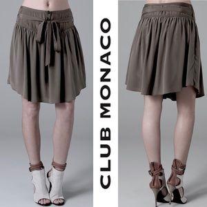 Club Monaco Leona Skirt Steel Grey Silk Skirt 2